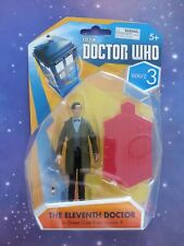 """11TH ELEVENTH DR WHO IN GREEN COAT SONIC SCREWDRIVER FROM SEASON 6 3.75"""" FIGURE"""