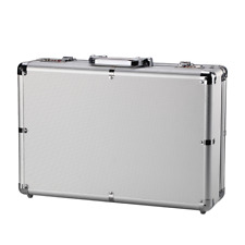 Aluminum Hard Tool Box  Home Garden Garage Carrying Case Dual Combination Locks
