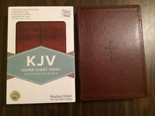 KJV Super Giant Print Bible - $29.99 Retail - Brown Leathertouch - Value Edition