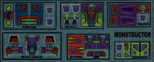 TRANSFORMERS GENERATION 1, G1 DECEPTICON MONSTRUCTOR REPRO LABELS / STICKERS