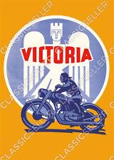 Victoria Motorrad Poster Plakat Bild Motorräder KR 1 2 3 6 7 8 25 26 35 50 S N S