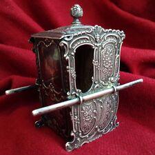 Augsburg German 18. century Antique Handmade Sterling Silver Box Sedan Chair Toy