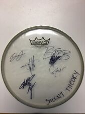 SILENT THEORY Rock Band Full Band AUTOGRAPH SIGNED 10 Inch DRUM HEAD