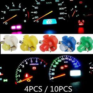 10x B8.4D T5 BX8.4D Car Motorcycle LED Gauge Speedo Dashboard Dash Light Bulbs