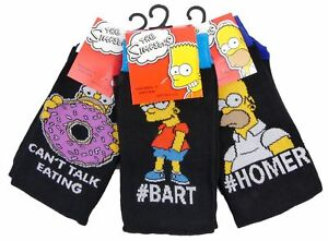 3 PAIRS OF BRAND NEW MEN'S OFFICIAL BART & HOMER SIMPSON SOCKS  ASSORTED DESIGNS