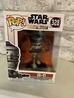 POP STAR WARS MANDALORIAN IG-11 #328 FUNKO POP FIGURE STAR WARS
