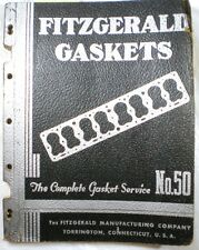 FITZGERALD Manufacturing Co Gaskets Guide Catalog ASBESTOS 1950 RARE!
