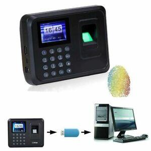 NEU 1x Fingerprint Zeiterfassung Stechuhr Stempeluhr USB Fingerabdruck Scanner