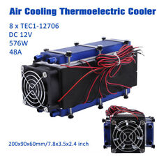 12V 576W 8 Chip TEC1-12706 Peltier Thermoelectric Cooler Refrigeration Cooling