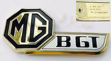Original Fray MGBGT / MGB GT Jubilee Gold Black & Silver Boot Badge, MG HZA5021