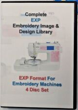 139,877 EXP Format EMBROIDERY Designs 4 DISC BOX SET