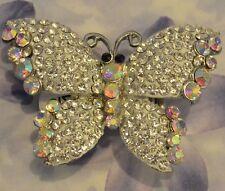 Dolly-Bijoux Fantaisie Grosse Bague Papillon T50-62 Cristal Swarowsky Blanc 55mm
