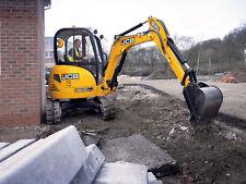 Jcb 8030 Zts Mini Escavatore Completo Decalcomania con Safty Spia