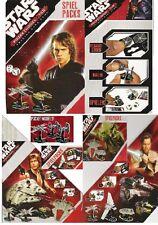 Star Wars Pocketmodel Display 24 Booster DEUTSCH Sammelkarten + Modelle RARITÄT