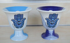 Pythagoras cup of justice evil third eye protector light blue and blue set