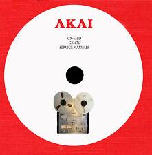 Akai GX-635D, GX-636 Repair Service manuals on 1 cd in pdf format