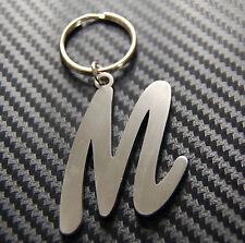 M Letter Alphabet Name Keyring Keychain Key Fob Bespoke Stainless Steel Gift