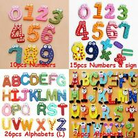 Numbers/Alphabets Wooden Fridge Magnet Educational Study Toy For Children Kids