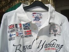chemise blanche  GEOGRAPHICAL NORWAY Royal Yatching   taille S tbe