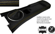 YELLOW STITCH CONSOLE & GAITER LEATHER COVERS FITS MAZDA MX5 MK3 05-14 STYLE 2