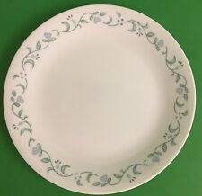 "Corelle Corning Country Cottage Blue Heart Green Vine Luncheon Plate 8 1/2"" D"