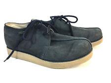 awesome BUFFALINO'S blue suede split toe crepe sole chukka B BOOTS 11