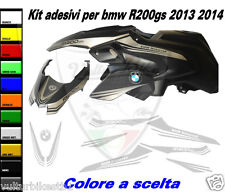 adesivi R1200 gs 2013 2014 kit personalizzato per puntale e carene
