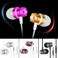 3.5mm With Mic Music In ear Stereo Headphone Sport Headset Earphone Earbuds Gift