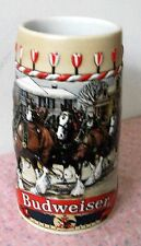 "Budweiser RARE Holiday Stein 1986 Collector Series ""B"" Series Clydesdales Beer"