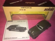 SOLIDO CHRYSLER WINDSOR 1948 HQ CAR. NO. 6042 -1:43 - March 1988 - NEW OLD STOCK