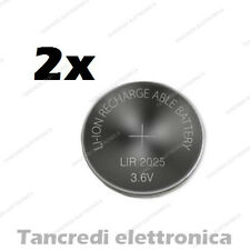 2X Batteria ricaricabile LIR2025 litio bottone rechargeable coin battery lithium