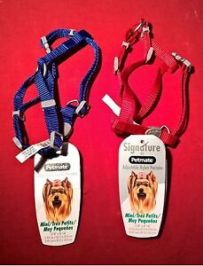 "NEW WITH TAGS! Signature by Petmate Adjustable Nylon Harness Mini 3/8"" by 8 1/4"""