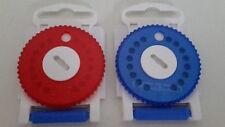 2x Cerumen Filter HF3 Blau/Rot für Hörgeräte NEU OVP