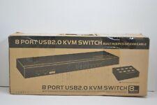 MT-VIKI 8 Port KVM Switch Manual Key Press VGA USB with Wired Remote Switcher
