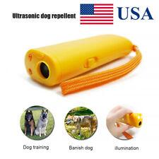 Ultrasonic Anti Dog Barking Pet Trainer LED Light Gentle Chaser Repeller Device