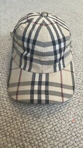 Burberry Baseball Cap Size One Good Used Condition