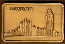 ★★★★ JOLI LINGOT PLAQUE BRONZE ● LONDRES / LONDON BIG BEN UK ★★★★★