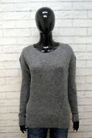 Maglione WOOLRICH Donna Taglia XL Pullover Cardigan Sweater Woman Grigio Lana