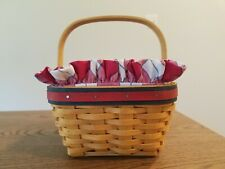 New ListingLongaberger 2001 All-American Collection Strawberry Basket w/ Liner and Protect.