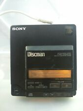 D-555 Portable CD Player Needs Repair 1989 Sony Discman POWERS UP