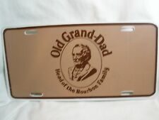 "OLD GRAND-DAD ""HEAD OF THE BOURBON FAMILY"" LICENSE PLATE ADVERTISING"