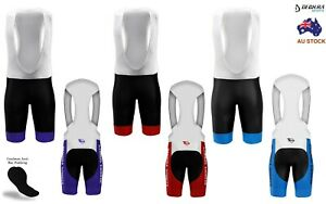 Mens Cycling Bib Shorts 3D Padded Summer Team Bike Chamois Bicycle Shorts Tights
