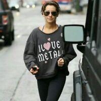 Wildfox I Love Metal Sweatshirt. Size S.
