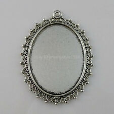 10175 5PCS 40x30mm Frame Base Tray Cameo Setting Pendant Charm Jewelry Finding