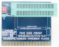 SEGA Genesis Homebrew player ZIF eprom to cartridge adapter test your games roms