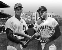 New York Giants WILLIE MAYS & Chicago Cubs ERNIE BANKS 8x10 Photo Print Poster