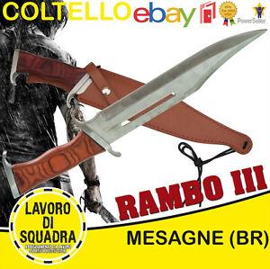 Coltello John Rambo 3 Esercito Marina Militaria Softair Outdoor Caccia Pesca