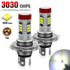 2X H4 9003 LED Fog Light 21 SMD Bulb 6000K White Hi/Lo Beam Car DRL Driving Lamp