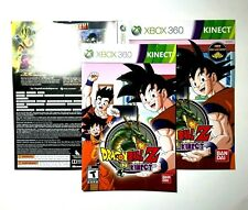 (MANUAL AND ARTWORK ONLY)(NO GAME)XBOX 360 Dragon Ball Z for Kinect
