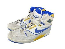 Vintage Nike Air Assault Hi Top Basketball Shoes As Is Size 12 Mens 80s Repair